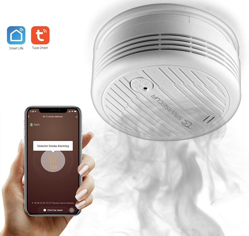 Household Smoke Detector WIFI Intelligent Detection High Sensitivity 80dB Network Multiple Alarm Low Power Smoke Detectors