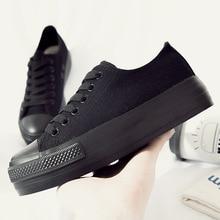 Fashion Spring Autumn Canvas Shoes Casual Platform Vulcanize