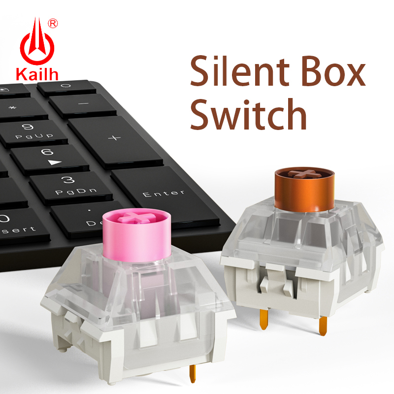 kailh box Silent Switch Mechanical Keyboard diy RGB SMD Pink Brown switch Dustproof IP56 waterproof Compatible Cherry MX