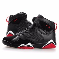 High Upper Lovers Shoes Unisex Breathable Sports Shoes Wear Resistant Outdoor Basketball Shoes Basketball Shoes     -