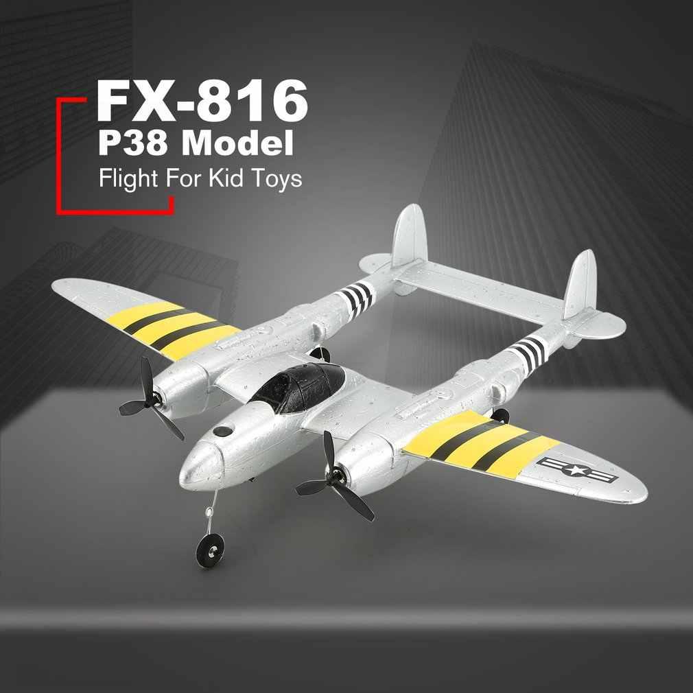 FX-816 II wojny światowej siły powietrzne P38 RC samolot 2.4GHz 2CH RC samolot stałe skrzydło na zewnątrz lotu Drone dla zabawki dla dzieci