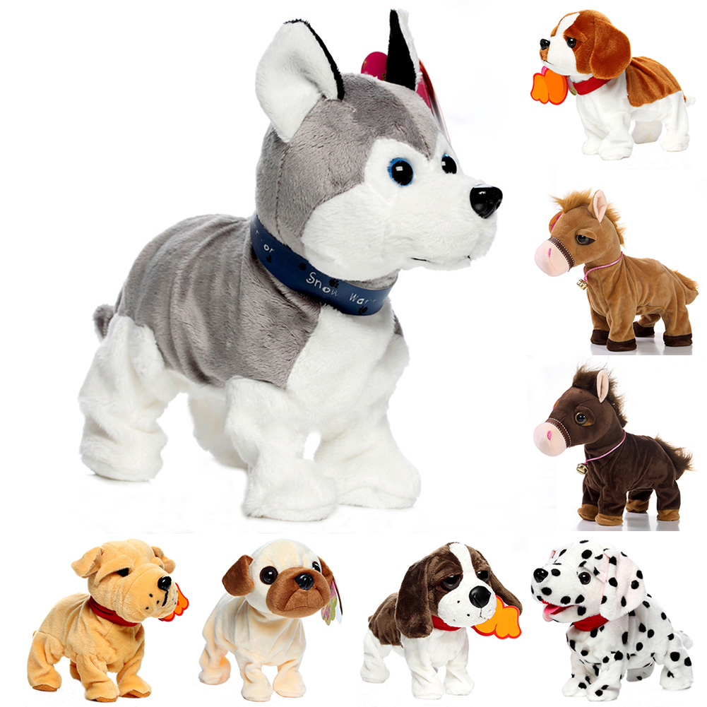 Stand Intelligent Interactive Funny Electric Toy Sound Control Bark Robot Dog Pets Cute Walk Children