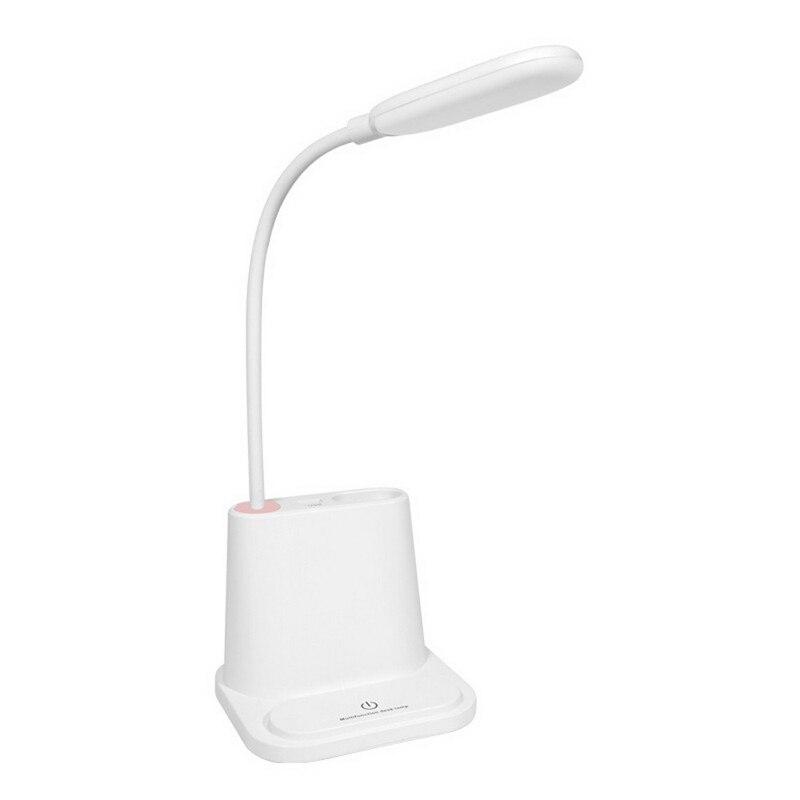 USB Phone Bracket Pen Organizer LED Table Lamp Multifunctional Bedside Reading Table Night Lighting Lamp