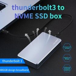 Acasis Thunderbolt 3 NVME M.2 SSD Eksternal SSD Kandang 4TB Aluminium Hard Drive Enclosure untuk Laptop Desktop