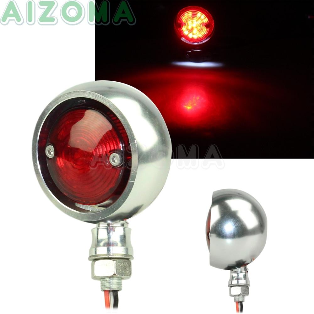 RED Brake Stop Tail Light LED 12V For Motorcycle Harley Cafe Racer Clubman Mini