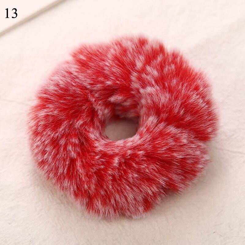 1 мягкий пушистый искусственный мех, пушистый благородный, новинка, шикарные резинки для волос, эластичное кольцо для волос, аксессуары, эластичные розовые резинки для волос - Цвет: Золотой