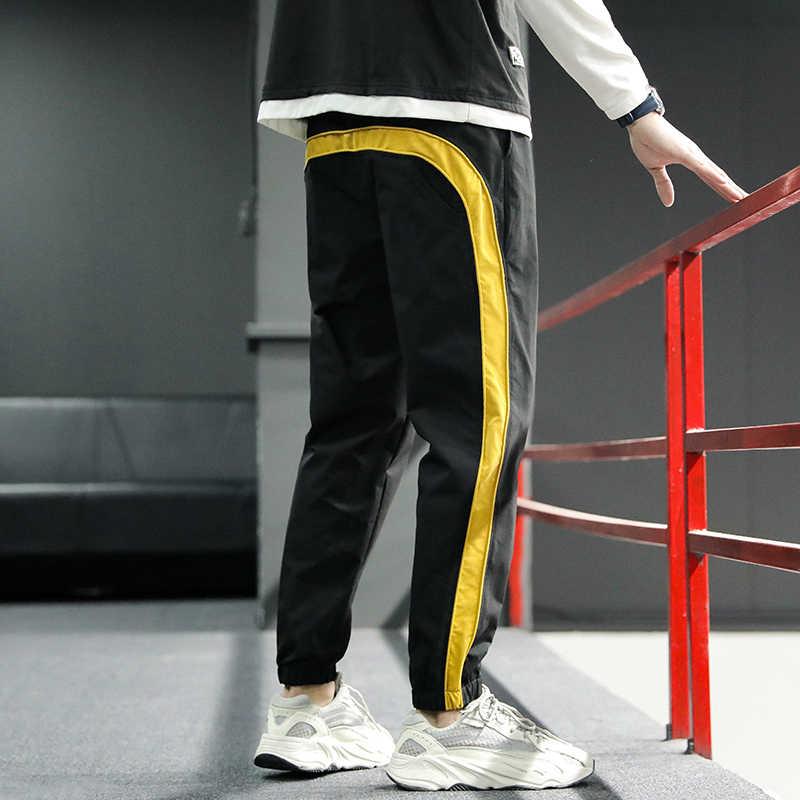 ¡Novedad de 2020! Pantalones Cargo Joggers de Hip Hop, pantalones Harem para hombre, cintas multibolsillos, pantalones de chándal para hombre, pantalones de calle, pantalones de hombre informales S-6XL