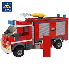 Kazi 98211 246pcs City Fire-fighting equipment car Blocks Bricks Building Block Sets Educational Toys For Children