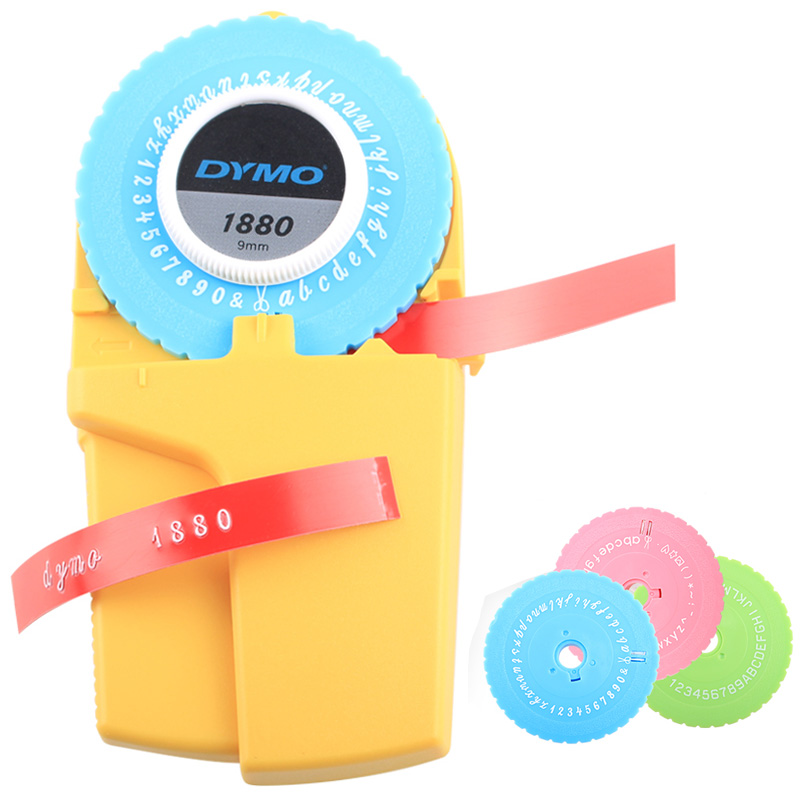 Dymo 1880 Manual Label Maker For 9mm(3/8'') 3D Embossing Plastic Pvc Label Labels For Dymo DIY Manual Label Printer Typewritter