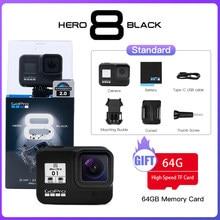 GoPro-Cámara de acción modelo Hero 8 4K Ultra HD de color negro, videocámara con estabilizador de transmisión en vivo, para hacer deporte y exteriores