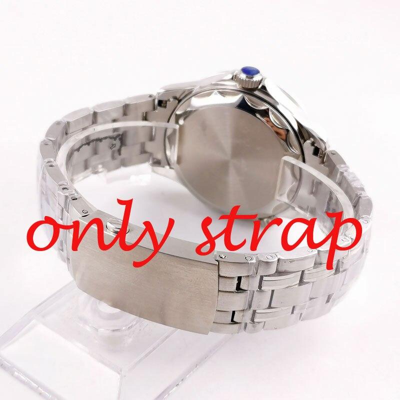 Bracelet solide en acier inoxydable poli PARNIS 316L de 20mm pour hommes