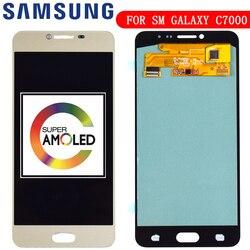 Nowy OLED wymiana telefon komórkowy LCD do Samsunga Galaxy C7 C7000 SM-C7000 Super wyświetlacz AMOLED ekran dotykowy Digitizer zgromadzenia
