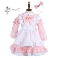 Pink Alice Costume Wonderland Costume Halloween Carnival Cosplay Costume Suit Maids Lolita Fancy Dress lady Anime Maid Uniform