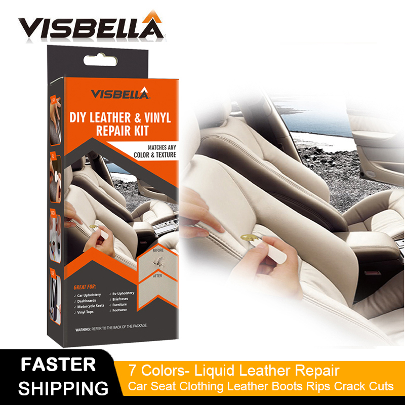 Leather Repair Kit | VISBELLA Leather Vinyl Repair Kit Glue Color Paste For Car Repair Hand Tool Sets Seat Clothing Leather Boots Rips Fix Crack Cuts