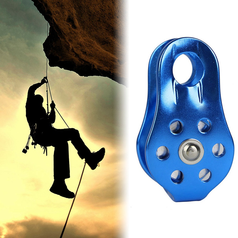 20KN Fixed Single Rope Pulley for 13mm Rope Arborist Climbing Mountaineering