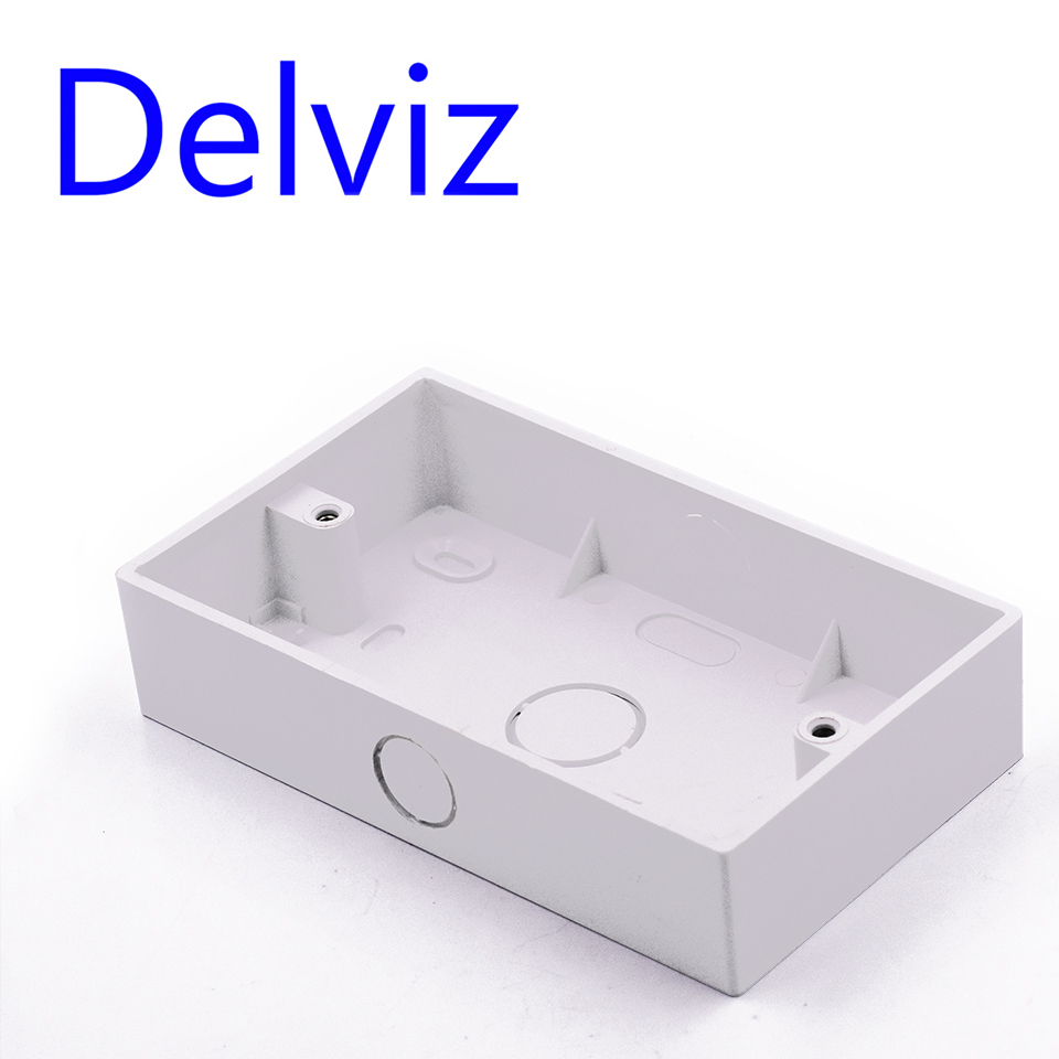 Delviz External Mounting Box For 146*86mm Standard Wall Switch Plastic MaterialsBOX Wall Socket Cassette Outer Wall Junction Box