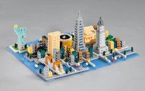 Image 3 - Weagle 2550 estátua de arquitetura da nova iorque, cidade de liberdade, império, edifício 3d, modelo diy, diamante, mini blocos de brinquedo sem caixa
