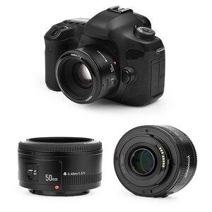 Image 2 - Yongnuo YN50mm F1.8 C/N Ống Kính Lớn Apeature Tự Động Lấy Nét Cho Canon Nikon DSLR Camera 500D 600D 120D D5100 D5200 D7000 D3500 d90 D3