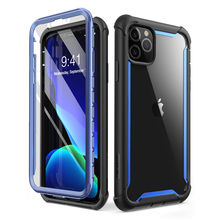 For iPhone 11 Pro Case 5.8 inch (2019 Release) i BLASON Ares Full Body Rugged Clear Bumper Cover with Built in Screen Protector