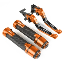 цена на Motorcycle CNC Brake Clutch Lever & 7/8 Handlebar Grips For KTM Duke 200 RC200 2014 2015 Duke 250 390 RC250 2013 2014 2015 2016