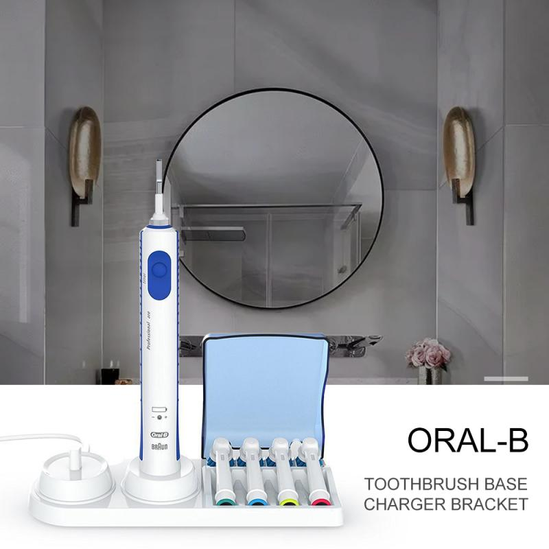 For Braun Oral-B Electric Toothbrush Free Stand Charger Replacement Head Holder Free Stand Support Charger Brush Head Safe Clean image