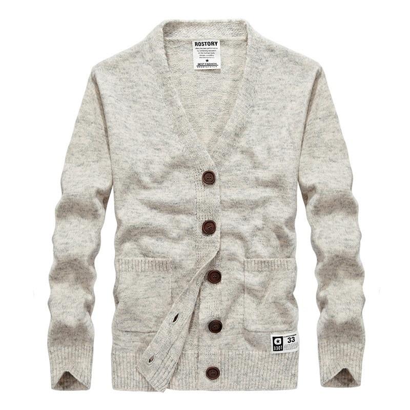 European size Sweater Men V-neck Slim Sweaters Mens Cardigan Sweater Knitwear For Men Jackets And Cardigans Men Coat