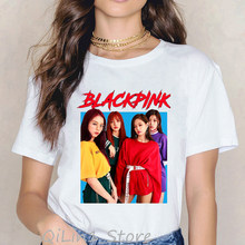 Kpop Blackpink Kill This Love T Shirt women LISA JISOO JENNIE ROSE 90s letters Tshirt Women vogue Top Tee Female Ullzang T-shirt(China)