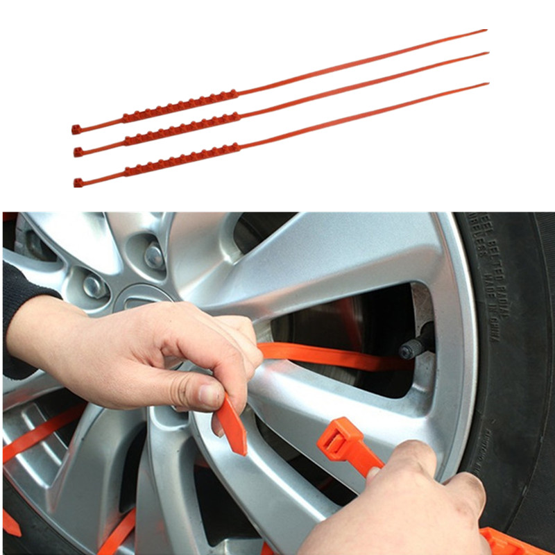 5/20PCS/SET Universal Anti-Slip Design Car SUV Plastic Winter Tyres Wheels Snow Chains Durable Car-Styling Snow Chains image
