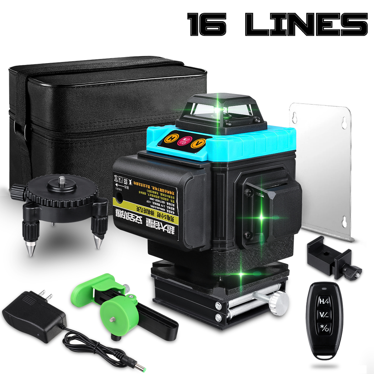 16 Lines 4D Laser Level Level Self-Leveling 360 Horizontal And Vertical Cross Super Powerful Green Laser Level
