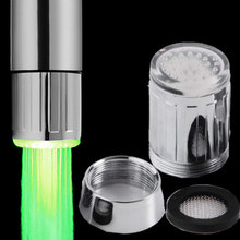 1 pcs 3 Types Luminous Glow LED Water Faucet Kitchen Bathroom Creative Light-Up Halloween Home Decoration(China)
