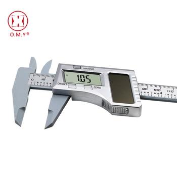 цена на 0-150mm 6 inch Solar Battery Digital Caliper Vernier Caliper LCD Vernier Gauge Micrometer measuring tool
