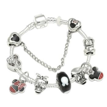 Cute Mickey Mouse Themed Bracelet Bracelets Jewelry New Arrivals Women Jewelry Metal Color: 25 Length: 21cm