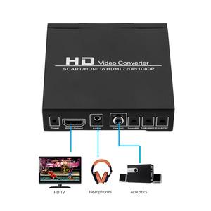 Image 5 - Convertidor de vídeo de alta definición Full HD 1080P euroconector Digital HDMI a HDMI, adaptador de enchufe europeo/de potencia para EE. UU. Para HDTV HD