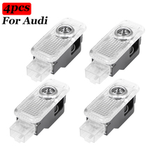 Projector-Lamp Welcome-Light Car-Accessories Led Audi Sline 4pcs for A1 A3 A4 A5 A6 A7