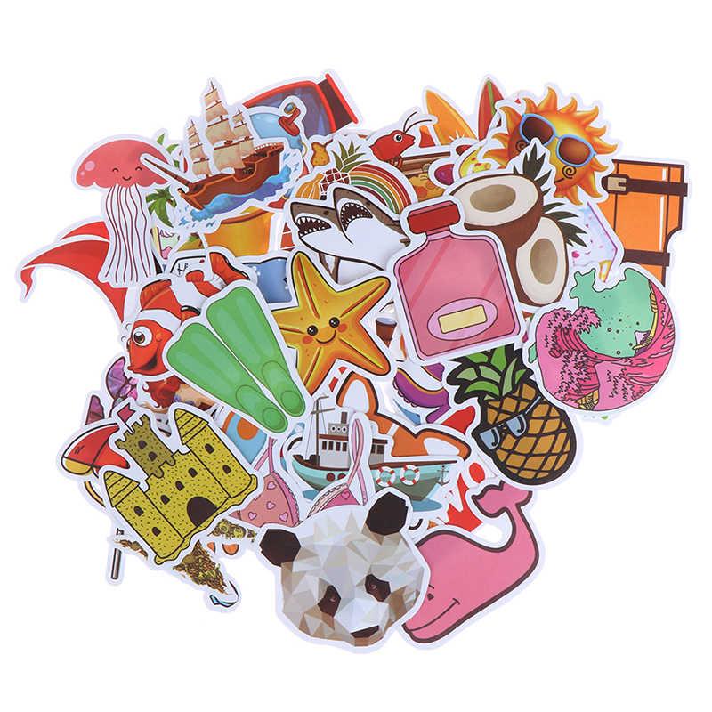 50 sztuk śliczne naklejki dla dzieci DIY Laptop przechowalnia gitara telefon rower deskorolka lodówka naklejki Kawaii Cartoon naklejki