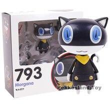 Persona 5 morgana 793 mona gato preto pvc figura de ação collectible modelo brinquedo