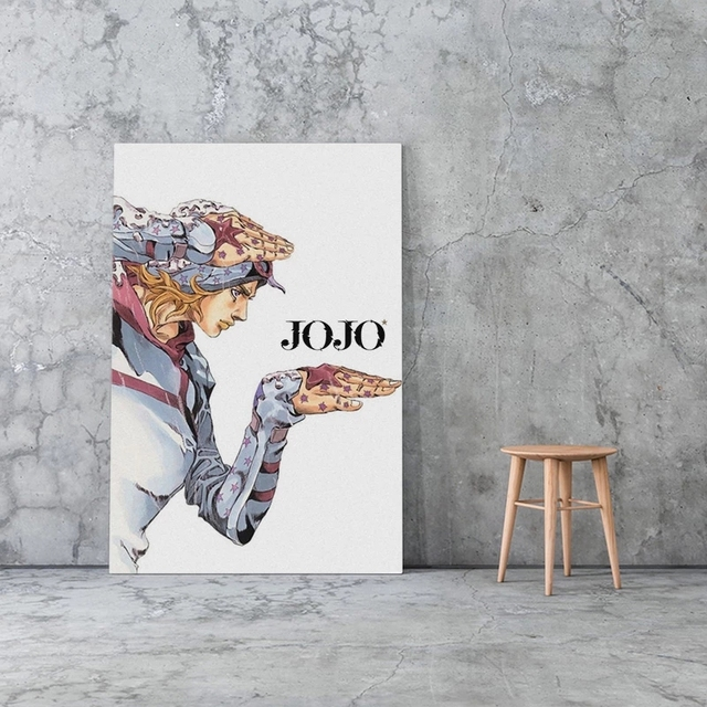 Canvas Prints Johnny Joestar Paintings Wall Art Jojo S Bizarre Poster Anime Role Modular Pictures For Bedroom Modern Home Decor 2