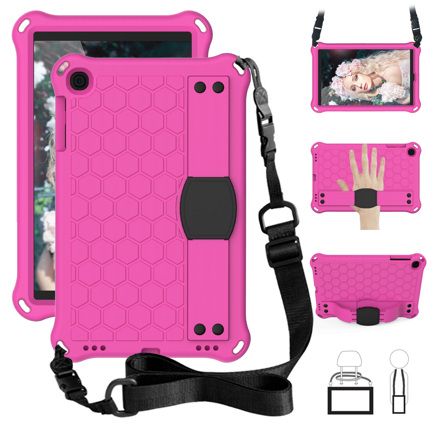 EVA Portable Kids Safe Foam Shockproof Tablet Stand Case For Samsung Galaxy Tab A 10.1 2019 SM-T510 SM-T515 T510 T515 Cover #S