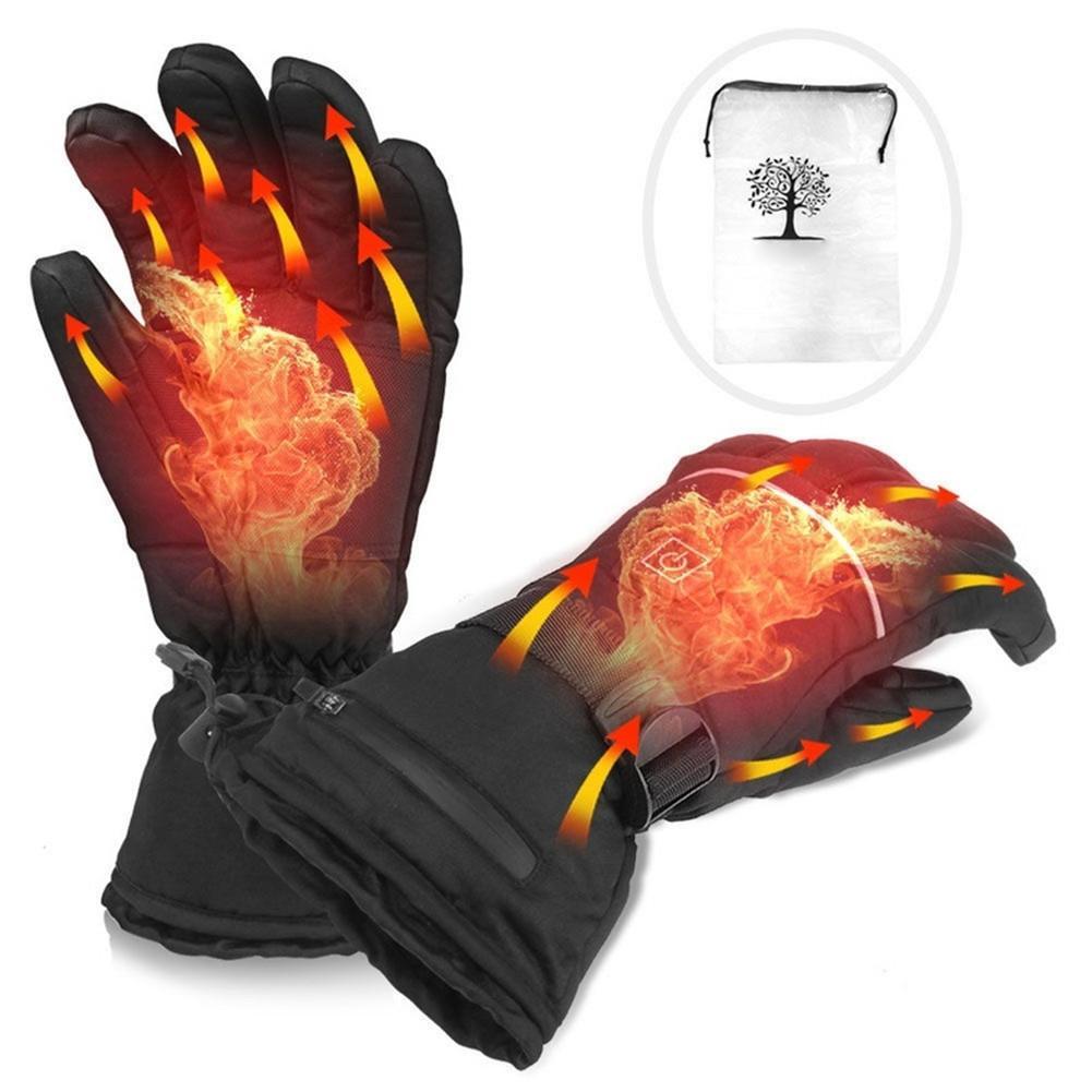 1 paire de gants chauffants électriques avec piles gants thermiques chauffants pour hommes et femmes gants chauffants à la main d'hiver à cinq doigts