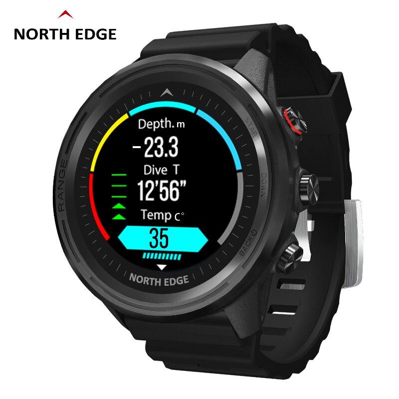 Permalink to NORTH EDGE Men's Smart Watch Smart Watch GPS Men's Compass Waterproof Diving 50M Fitness Outdoor Watch