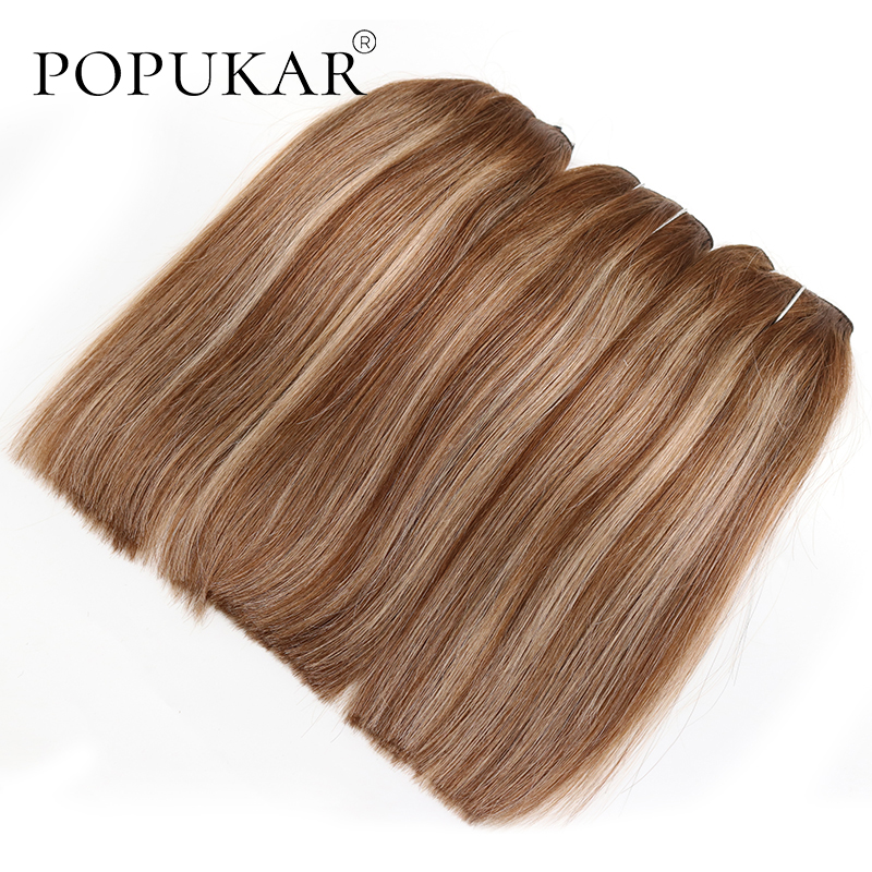 Popukar 70g Invisible Wire Halo Hair Extensions Natural Straight Human Hair Flip In Fish Line Balayage One Piece Clip In Hair
