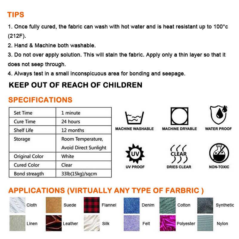 VISBELLA 60ml SEW กาวกาวกาวซ่อมชุดสำหรับหนังผ้าสิ่งทออเนกประสงค์ Crafting ผ้าธรรมชาติกาว
