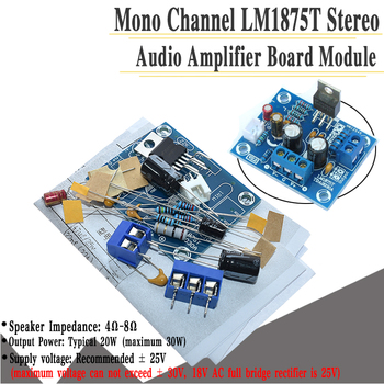 AEAK LM1875T 30W amplifier board mono boom level power amplifier PCB production DIY kit LM1875