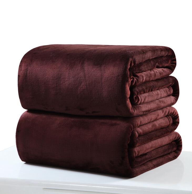 10 renk hafif ince mekanik yıkama flanel battaniye yumuşak sıcak mercan polar battaniye kış çarşaf yatak örtüsü kanepe ekose atmak