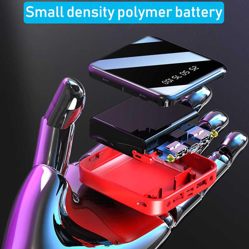 Mini batterie externe 30000mAh Pour iPhone X Xiao mi mi Powerbank Povre Banque Chargeur Double Ports Usb Batterie Externe Poverbank Portable