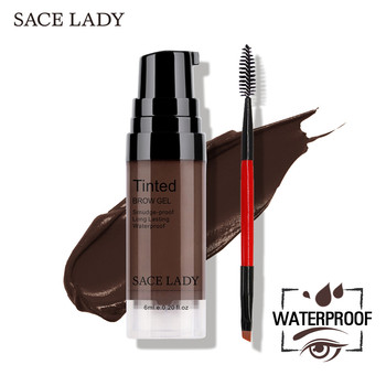 SACE LADY Eyebrow Gel Tint 6 Colors Makeup Pomade Brush Kit Brown Henna Eye Brow Cream Make Up Paint Set Enhancer Wax Cosmetic