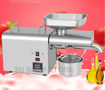 2019 new 110V/220V automatic cold press oil machine, oil cold press machine, sunflower seeds oil extractorTemperature Controlle недорого