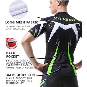 Image 3 - X TIGER Man ג רזי בגדי אופני הרים מהיר יבש מירוץ MTB אופניים בגדים אחיד Breathale רכיבה על אופניים בגדים ללבוש