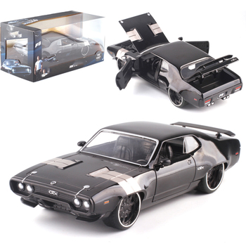 22CM 1:24 Scale Diecast Alloy 1972 DOM'S GTX Fast Racing Car Model Metal Vehicles Toy F Children Gifts Collection Show Souvenir image
