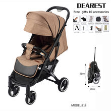 DEAREST Baby Stroller Free Shipping with 12 Gifts Folding Portable High Landscape Lower Factory Price New Design Baby Stroller(China)